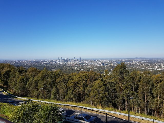 Brisbane City Full View from Mount Coot Tha